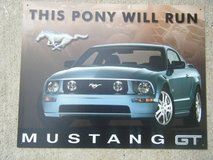 Ford Mustang Metal Sign in Baytown, Texas