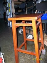 AWESOME SOLID WOOD SQUARED TOP TALL STOOL in Chicago, Illinois