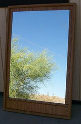 Large Canada made Wood Wall Hanging Mirror in 29 Palms, California